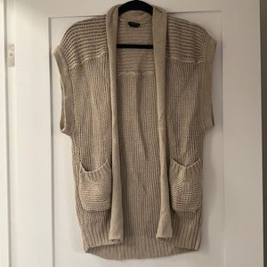 Club Monaco Knit Sleeveless Cardigan